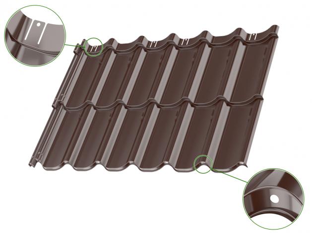 Țiglă metalică dublu-modulară  Umbrella